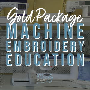 Machine Embroidery Education - Gold Package