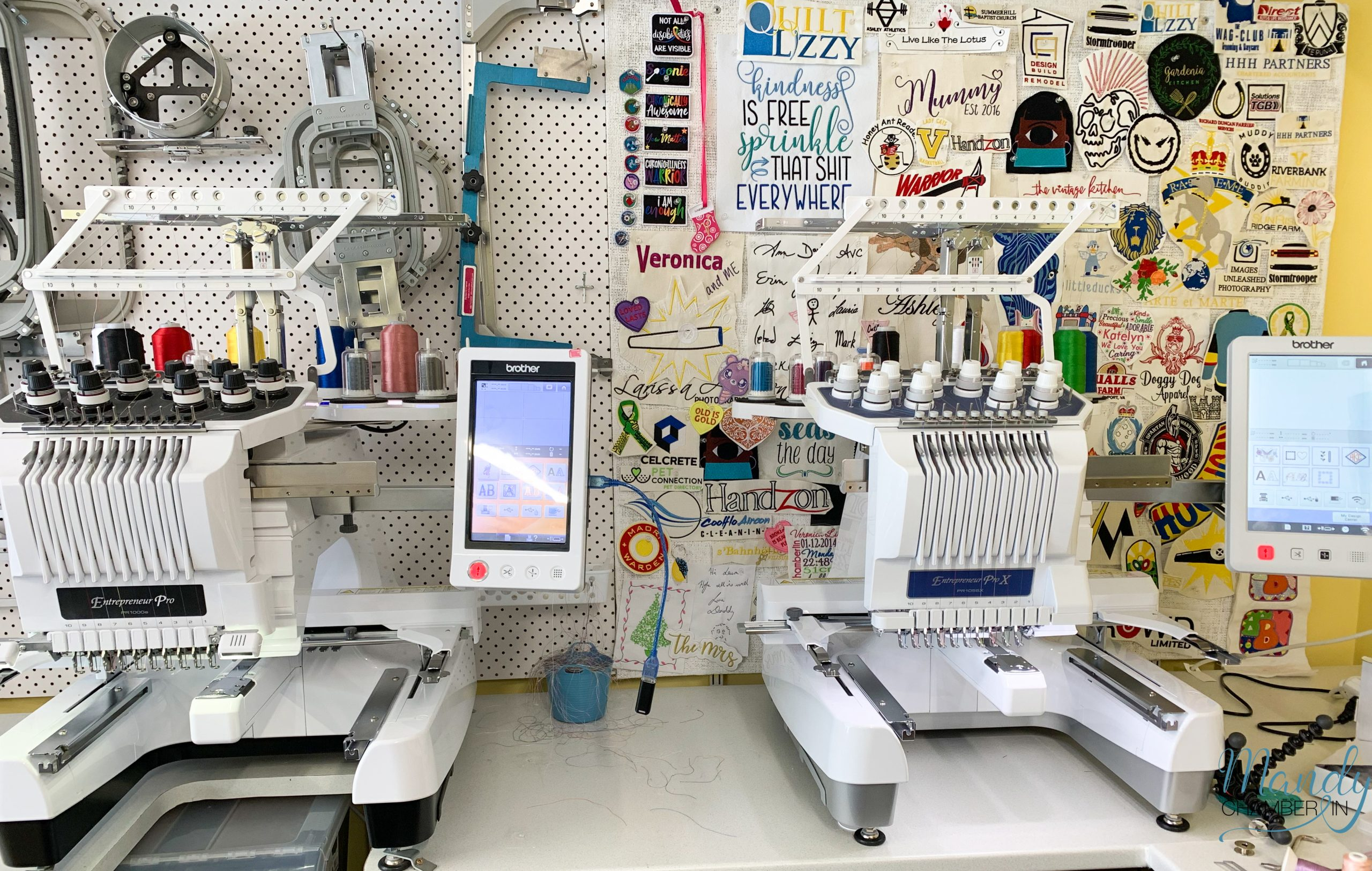 Brother PR1000e and Brother PR1055X Embroidery Machines